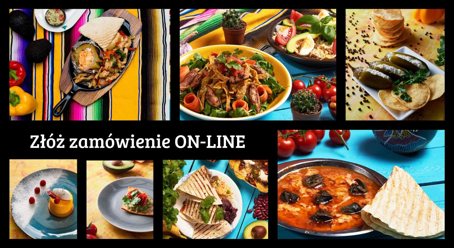 Kliknij i przejdź do menu on-line